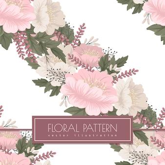 Modèle sans couture floral rose