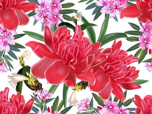 Modèle sans couture floral tropical