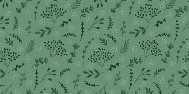 Modèle sans couture floral vert. conception abstraite moderne
