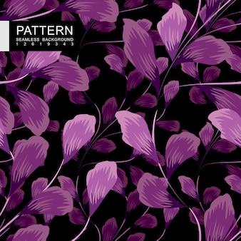Modèle sans couture floral violet