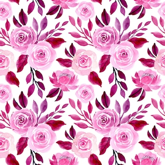 Modèle sans couture florale aquarelle violet