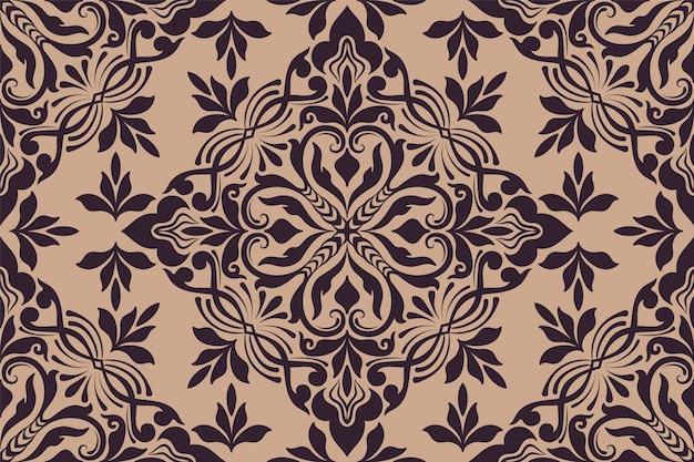 Modèle sans couture florale ornement