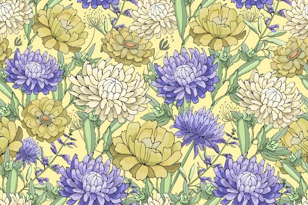 Modèle sans couture florale de vecteur