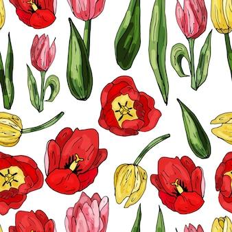 Modèle sans couture sur fond blanc d'orchidées en fleurs. délicat imprimé floral abstrait.