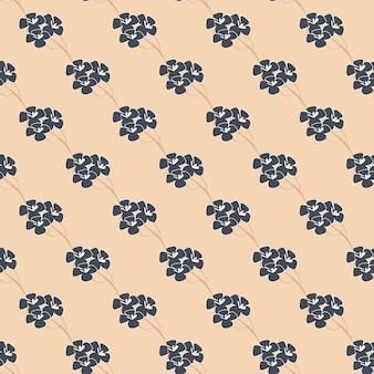 Modèle sans couture, fond avec des fleurs comme le sakura japonais dans des couleurs douces. illustration vectorielle stock - fond sans fin