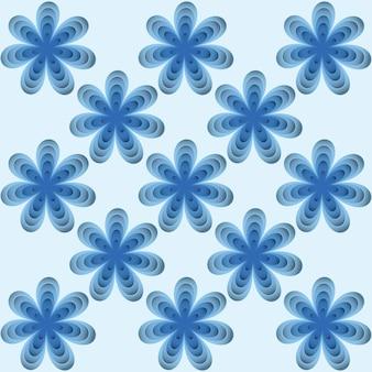 Modèle sans couture avec fond d'illustration vectorielle de fleurs