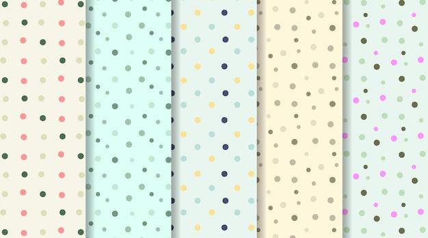 Modèle sans couture de fond pointillé coloré