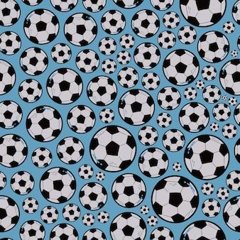 Modèle sans couture de football football avec des boules