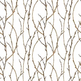 Modèle sans couture de forêt hiver pour décorations de noël