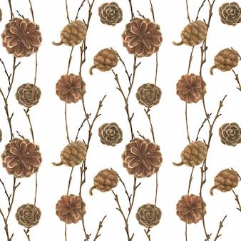 Modèle sans couture de forêt d'hiver pour noël