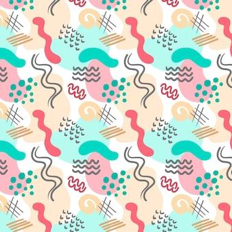 Modèle sans couture de formes abstraites dessinés à la main