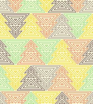 Modèle sans couture avec des formes abstraites