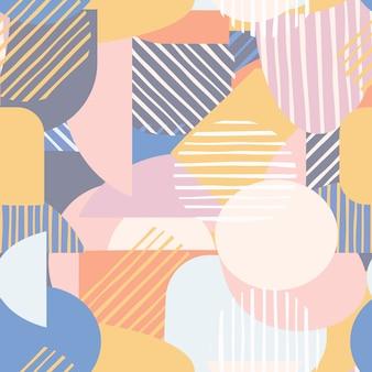 Modèle sans couture de formes géométriques contemporaines.