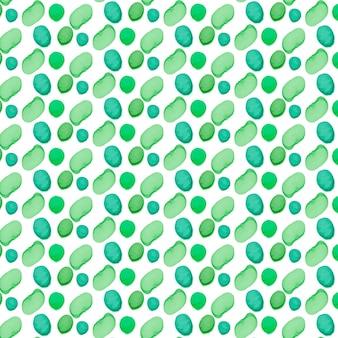 Modèle sans couture de formes peintes en pointillé vert