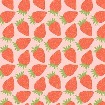 Modèle sans couture de fraise mignon