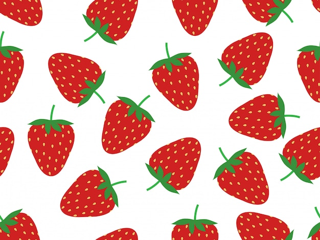 Modèle sans couture de fraises fraîches