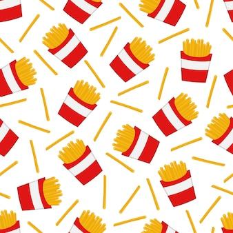 Modèle sans couture de frites