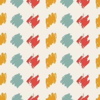 Modèle sans couture avec frottis de gribouillis dessinés à la main coloré sur fond blanc. texture grunge abstraite. illustration vectorielle