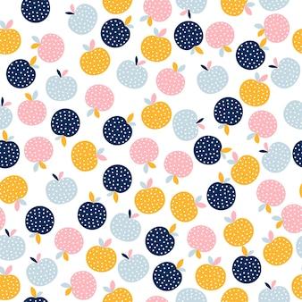 Modèle sans couture de fruits abstraits