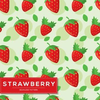 Modèle sans couture avec fruits aux fraises