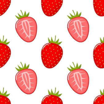 Modèle sans couture de fruits aux fraises.