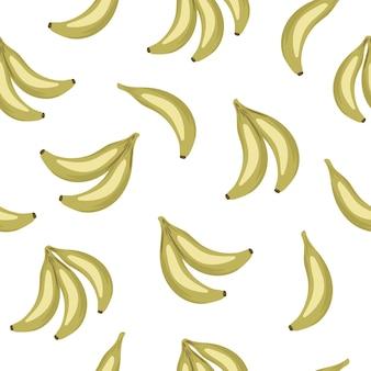 Modèle sans couture de fruits banane tropicale