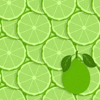Modèle sans couture de fruits citron vert.