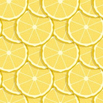 Modèle sans couture de fruits citron.