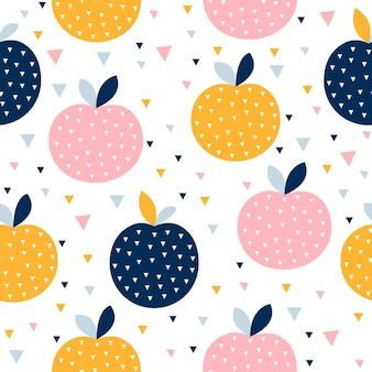 Modèle sans couture de fruits colorés