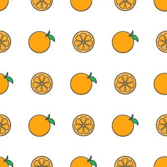 Modèle sans couture de fruits orange. illustration d'orange fraîche