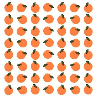 Modèle sans couture de fruits orange