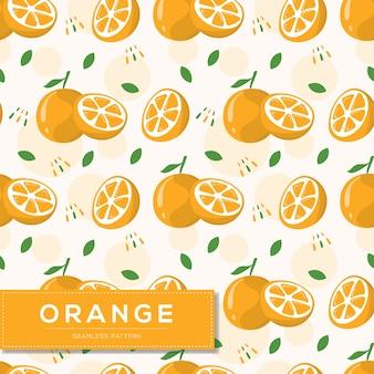 Modèle sans couture avec fruits orange