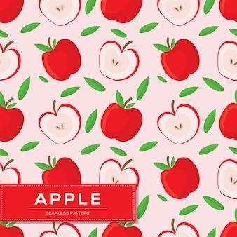 Modèle sans couture avec fruits de pomme