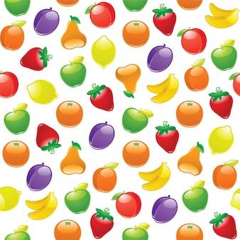 Modèle sans couture de fruits