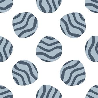 Modèle sans couture de galets doodle sur fond blanc. fond d'écran de pierres dessinées à la main