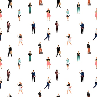 Modèle sans couture de gens d & # 39; affaires