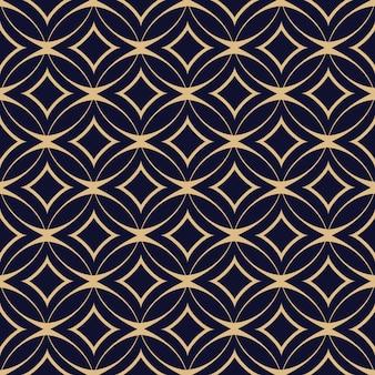Modèle sans couture géométrique abstrait avec des cercles entrelacés