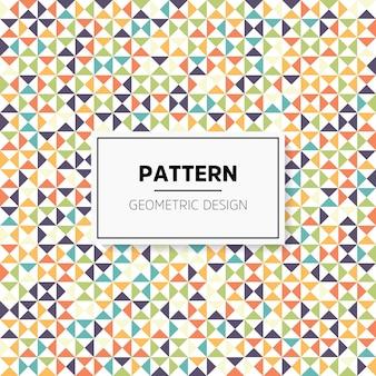 Modèle sans couture géométrique abstrait irrégulier coloré