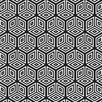 Modèle sans couture géométrique abstrait moderne