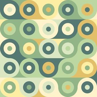 Modèle sans couture géométrique abstrait rétro.