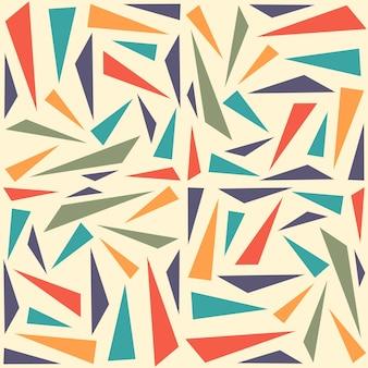 Modèle sans couture géométrique abstrait avec triangle. impression de fond sans soudure triangle