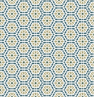 Modèle sans couture géométrique arabe