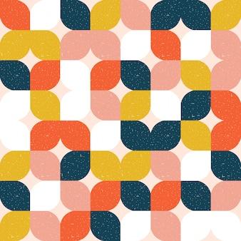 Modèle sans couture géométrique coloréю