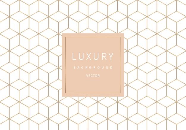 Modèle sans couture géométrique de contour doré. style de luxe.