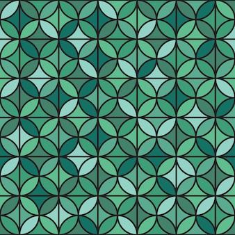Modèle sans couture géométrique élégant