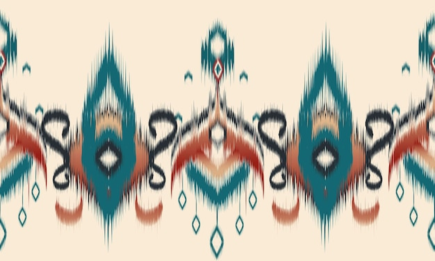 Modèle sans couture géométrique ethnique ikat oriental.