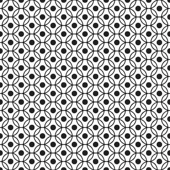 Modèle sans couture géométrique fond noir et blanc conception pour le fond