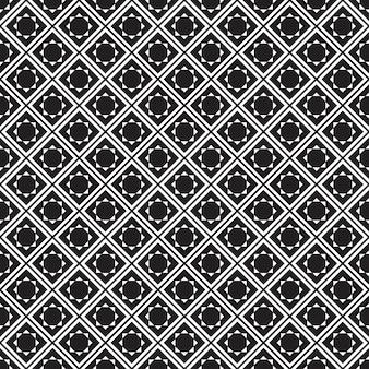 Modèle sans couture géométrique fond noir et blanc.