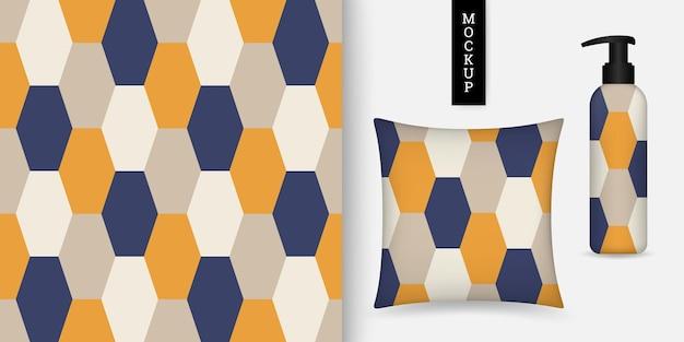 Modèle sans couture géométrique avec hexagones