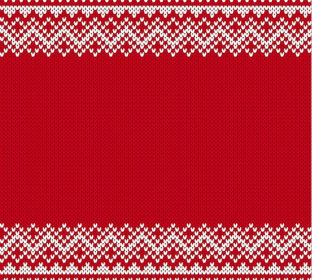 Modèle sans couture géométrique en tricot avec une place vide pour le texte.